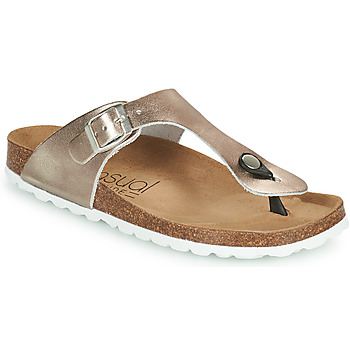 Chaussures Femme Tongs Casual Attitude OXAL Bronze