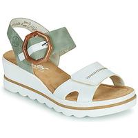 Chaussures Femme Sandales et Nu-pieds Rieker SOLLA Vert / Blanc