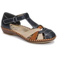 Chaussures Femme Sandales et Nu-pieds Rieker BLUE Bleu / Marron