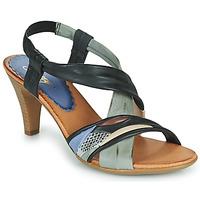 Chaussures Femme Sandales et Nu-pieds Betty London POULOI Noir/gris