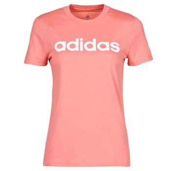 Vêtements Femme T-shirts manches courtes adidas Performance W LIN T Rose