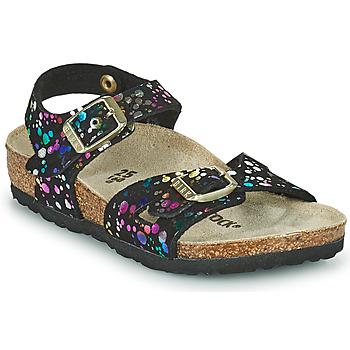 Chaussures Fille Sandales et Nu-pieds Birkenstock RIO Noir / Multicolore