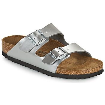 Chaussures Fille Mules Birkenstock ARIZONA Argenté