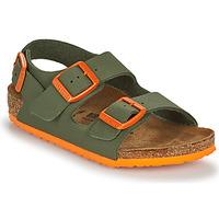 Chaussures Garçon Sandales et Nu-pieds Birkenstock MILANO Kaki / Orange