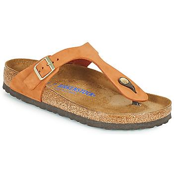 Chaussures Femme Tongs Birkenstock GIZEH SFB Orange