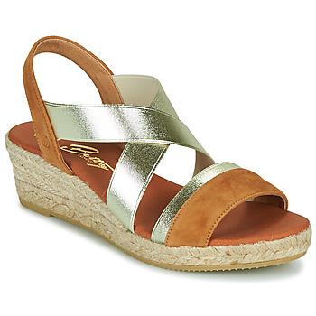 Chaussures Femme Sandales et Nu-pieds Betty London OLINDRE Cognac