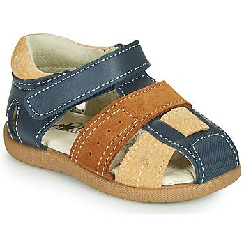 Chaussures Garçon Sandales et Nu-pieds Citrouille et Compagnie OLOSS Bleu/marron