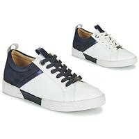 Chaussures Fille Baskets basses JB Martin GELATO Blanc / Marine