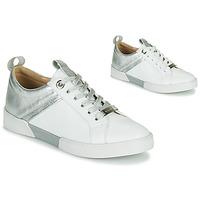 Chaussures Fille Baskets basses JB Martin GELATO Blanc / Argenté