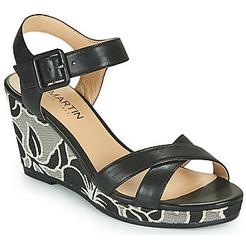 Chaussures Femme Sandales et Nu-pieds JB Martin QUERIDA Noir / Gris