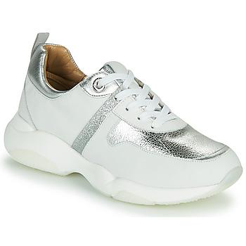 Chaussures Fille Baskets basses JB Martin WILO Blanc / Argenté