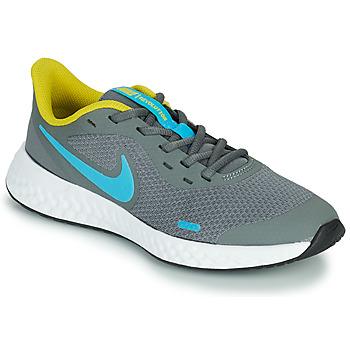 Chaussures Garçon Multisport Nike REVOLUTION 5 GS Gris / Bleu