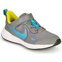 Chaussures Garçon Multisport Nike REVOLUTION 5 PS Gris / Bleu