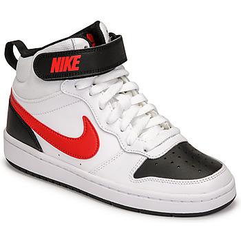 Chaussures Garçon Baskets basses Nike NIKE COURT BOROUGH MID 2 Blanc / Rouge / Noir