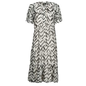 Vêtements Femme Robes longues Vero Moda VMKATHRINE Blanc / Noir