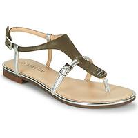 Chaussures Femme Sandales et Nu-pieds JB Martin 2GAELIA Kaki / Argenté