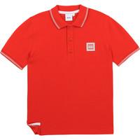Vêtements Garçon Polos manches courtes BOSS J25L14-997-C Rouge