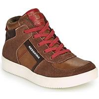Chaussures Garçon Baskets montantes Redskins LAVAL KID Marron / Rouge