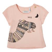 Vêtements Fille T-shirts manches courtes Ikks XS10100-32 Rose