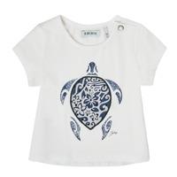 Vêtements Fille T-shirts manches courtes Ikks XS10070-19 Blanc