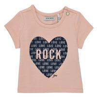 Vêtements Fille T-shirts manches courtes Ikks FLORE Rose