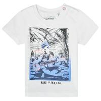 Vêtements Garçon T-shirts manches courtes Ikks SIONA Blanc