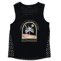Vêtements Fille T-shirts manches courtes Ikks FRANNY Noir