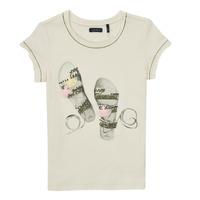 Vêtements Fille T-shirts manches courtes Ikks TRADIT Blanc