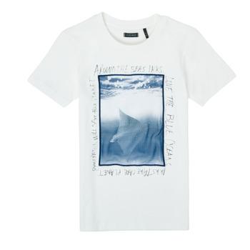 Vêtements Garçon T-shirts manches courtes Ikks KATERINA Blanc