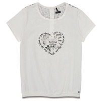 Vêtements Fille T-shirts manches courtes Ikks TOPLIPA Blanc
