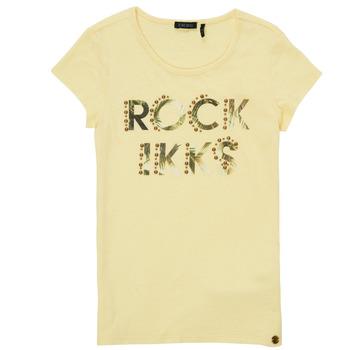 Vêtements Fille T-shirts manches courtes Ikks JALLIA Jaune