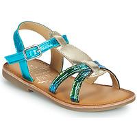 Chaussures Fille Sandales et Nu-pieds Mod'8 CALICOT Turquoise / Doré