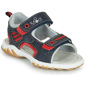 Chaussures Garçon Sandales et Nu-pieds Mod'8 TOPPY Marine / Rouge