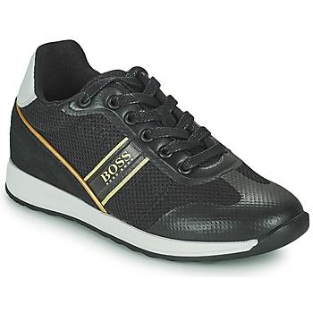 Chaussures Garçon Baskets basses BOSS TRAMMI Noir / Doré