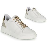 Chaussures Fille Baskets basses BOSS NILLA Blanc / Doré