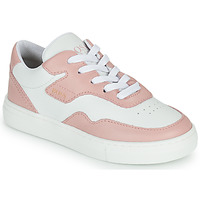 Chaussures Fille Baskets basses BOSS PAOLA Blanc / Rose