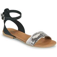 Chaussures Femme Sandales et Nu-pieds Betty London GIMY Noir/gris