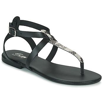 Chaussures Femme Sandales et Nu-pieds Betty London ORIOUL Noir/gris