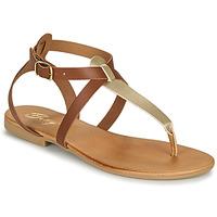 Chaussures Femme Sandales et Nu-pieds Betty London ORIOUL Camel/doré
