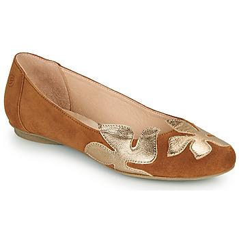 Chaussures Femme Ballerines / babies Betty London ERUNE Camel/doré