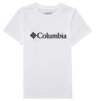 Vêtements Garçon T-shirts manches courtes Columbia CSC BASIC LOGO YOUTH Blanc