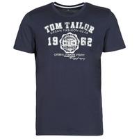 Vêtements Homme T-shirts manches courtes Tom Tailor  Marine