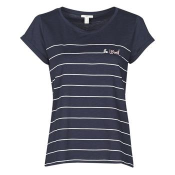 Vêtements Femme T-shirts manches courtes Esprit T-SHIRTS Bleu