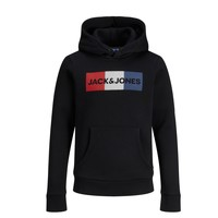 Vêtements Garçon Sweats Jack & Jones JJECORP LOGO PLAY SWEAT Noir