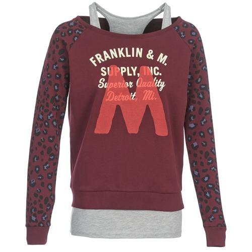 Vêtements Femme Sweats Franklin & Marshall MANTECO Bordeaux / Gris