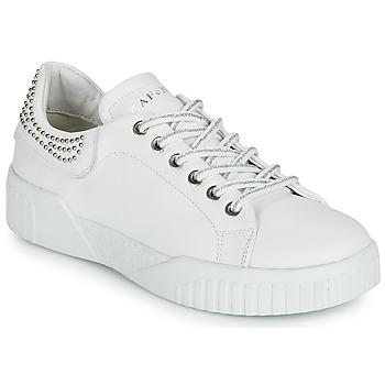 Chaussures Femme Baskets basses Café Noir THINA Blanc