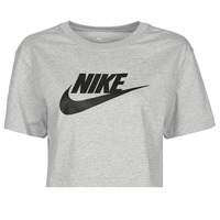 Vêtements Femme T-shirts manches courtes Nike NSTEE ESSNTL CRP ICN FTR Gris / Noir