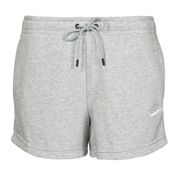 Vêtements Femme Shorts / Bermudas Nike NSESSNTL FLC HR SHORT FT Gris / Blanc
