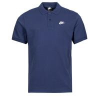 Vêtements Homme Polos manches courtes Nike NSSPE POLO MATCHUP PQ Marine / Blanc