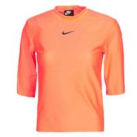 Vêtements Femme T-shirts manches courtes Nike NSICN CLSH TOP SS MESH Orange